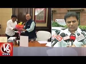 KTR Meets Union Minister Arun Jaitley | Urge To Increase ...