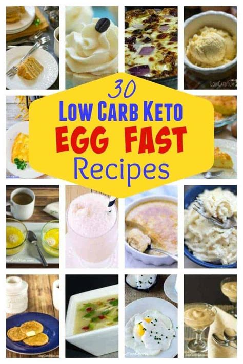 egg fast diet plan recipes  weight loss  carb yum