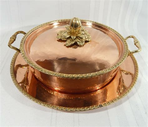 italy copper cookware pan pot  tray  salvadori hand hammered ruffoni  popscreen