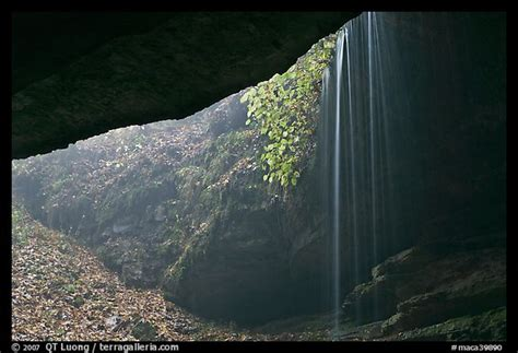 picturephoto rain fed waterfall    cave