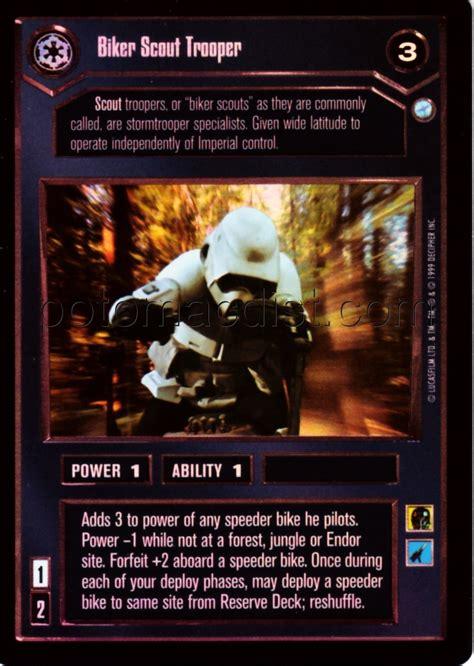 star wars ccg endor foil card set  potomac distribution