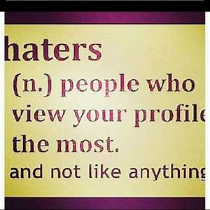 FACEBOOK QUOTES AND SAYINGS ABOUT HATERS image quotes at ...