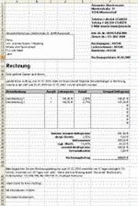 Rechnung Haushaltsnahe Dienstleistungen Muster : vorlagen f r die rechnung in ms excel ordnungsgem e rechungsstellung mit pflichtangaben ~ Themetempest.com Abrechnung