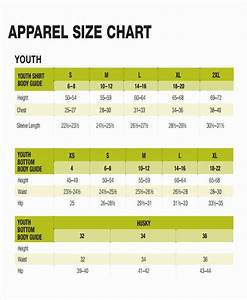 Clothing Size Chart Template Inspirational 48 Printable