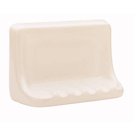 ceramic soap dish shop interceramic bath accessories bone ceramic soap dish at lowes com