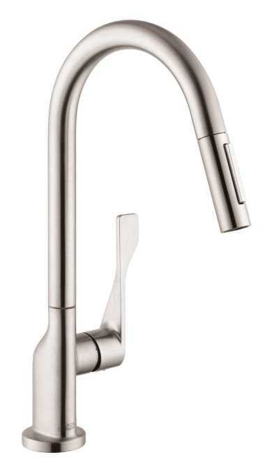 Hansgrohe Metro Higharc Kitchen Faucet by Hansgrohe 39835801 Axor Citterio 2 Spray Higharc Pull