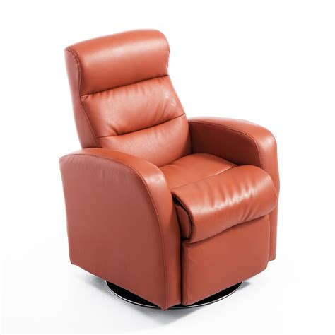 leather swivel recliner qaba pu leather swivel recliner chair brown
