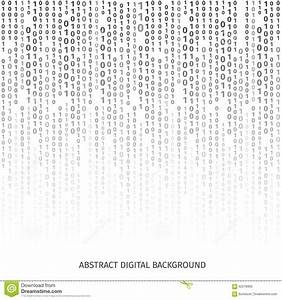 Binary Code Black And White Background With Digits Stock ...