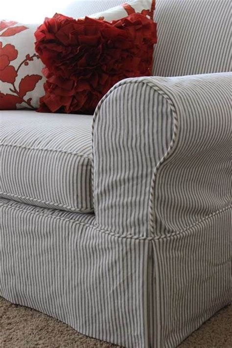 cream grey stripe chair bing images slipcovers  chairs couch covers slipcovers custom
