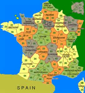 France Area Code Map