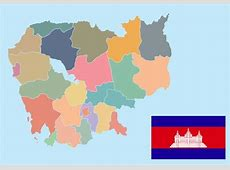 Cambodia Map Vector Download Free Vector Art, Stock