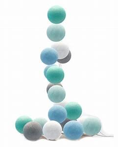 Cotton Balls Lichterkette : good moods led lichterkette cotton balls hellblau mint grau wei bei fantasyroom online kaufen ~ Eleganceandgraceweddings.com Haus und Dekorationen