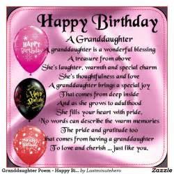 Granddaughter Birthday Poems