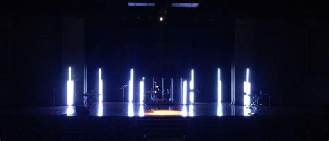 led glow sticks church stage design ideas