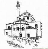 Tower Coloring Buildings Moschee Coloringpages101 Ausmalen Pdf Printable Islam Zum sketch template