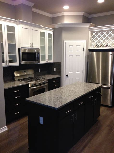 white lower kitchen cabinets white cabinets with espresso lower cabinets