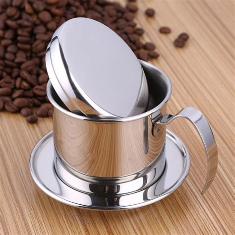 The oxo brew is compact, stylish and also sturdy, plus it. Stainless Steel Vietnam Coffee Pour Over Dripper Filter Coffee Maker Drip Coffee Filter Pot ...
