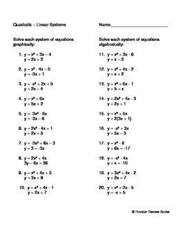 solving a quadratic linear system by dawn facciolo tpt