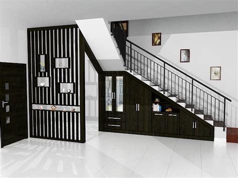 memanfaatkan ruang kosong  bawah tangga rumah