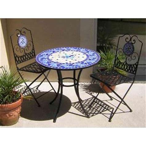Table De Jardin Mosaique Fer Forge by Table De Jardin Fer Forg 233 Et Mosa 239 Que Bleue 216 76 Achat Vente Table De Jardin Table De Jardin