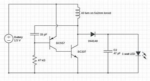1 Watt Led Driver Circuit 1 5v Input  Modified Joule Thief