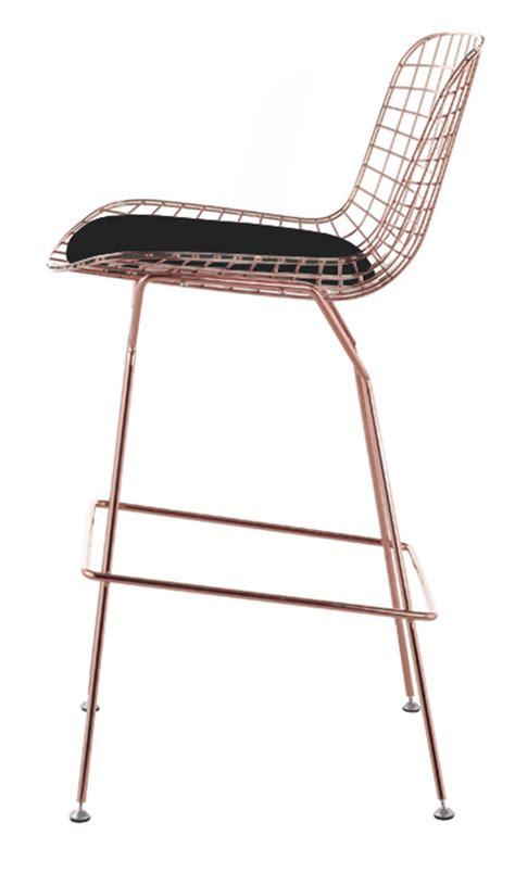 bertoia wire counter stool  rose gold finish bar