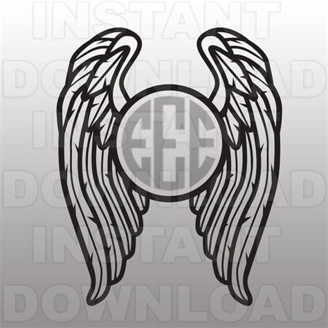 Get vector graphics and designs! Wings SVG,Angel Wings SVG,Monogram SVG File,Cutting ...