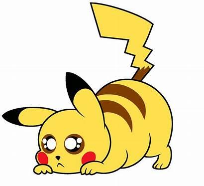 Pikachu Pokemon Transparent Deviantart Clipart Pounce Sad