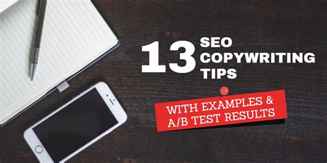 seo copywriting 13 seo copywriting tips with exles and a b tests