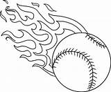 Baseball Coloring Pages Fire Softball Printable Flame Yankees Flames Bat Cardinals York Fun Getcolorings Sketch Templates Template sketch template