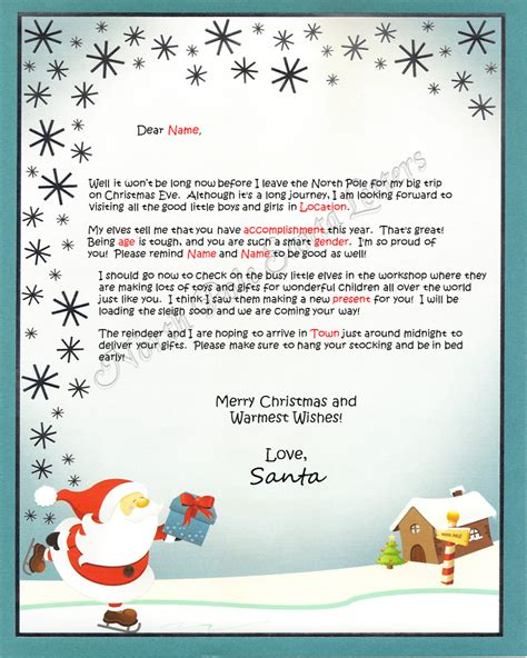 letters from santa 2017 santa letters from pole letter simple exle 71490