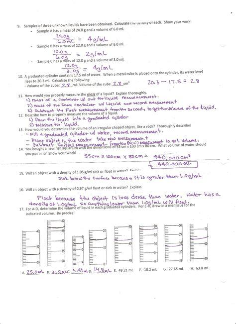 density worksheet 1 answer key breadandhearth