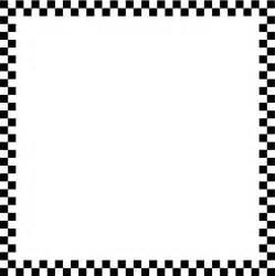 Black and White Checkered Border Clip Art