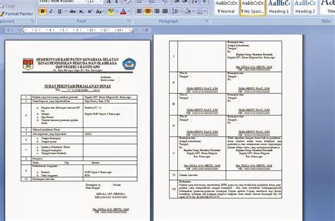 Contoh Sppd by Contoh Surat Perintah Perjalanan Dinas Sekolah Sppd