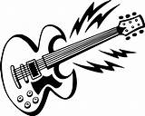 Guitar Coloring Pages Electric Printable Clip Adult Hero Guitars Acoustic Clipart Da Google Musical Con Gambar Rocking Awesome Express Popular sketch template