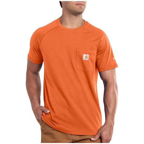 carhartt force cotton short sleeved t shirt 590859 t shirts at sportsman s guide
