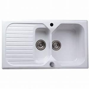 Evier En Gres Blanc 1 Bac : evier encastrer gr s blanc garrigue 1 5 bac avec ~ Premium-room.com Idées de Décoration