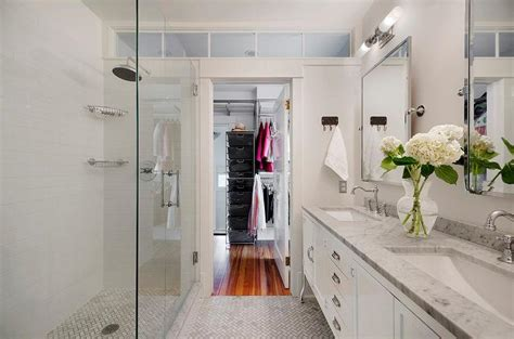 closet bathroom walk through closet design ideas
