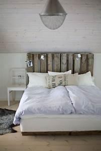 Tete De Lit Simple : t te de lit en palette 31 nouvelles id es pour votre chambre ~ Nature-et-papiers.com Idées de Décoration