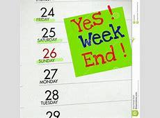 Yes Weekend Stock Photo Image 52054069