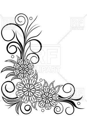sheet  floral corner design vector image  design