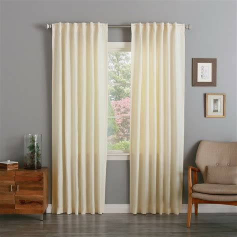 Back Tab Drapes by Warehouse Clearance Textured Linen Back Tab Rod Pocket