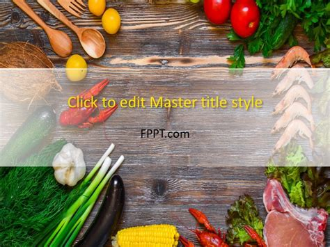 food powerpoint template free green groceries powerpoint template free powerpoint templates