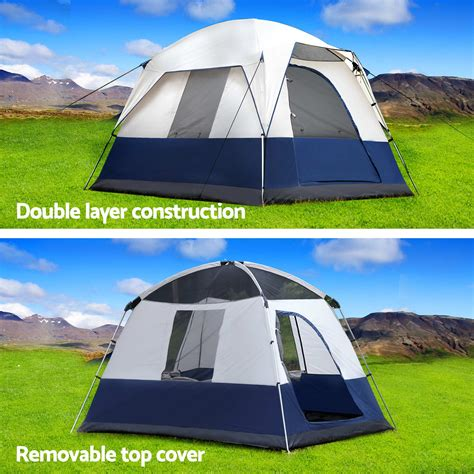 4 person cabin tent weisshorn 4 person family cing tents cabin canvas swag