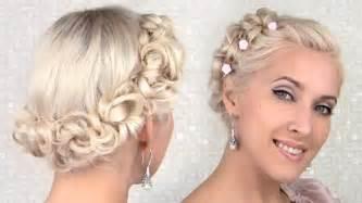easy bridesmaid hair easy prom wedding updo hairstyle for medium hair tutorial