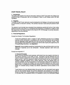 9 travel policy templates sample templates With staff policy template