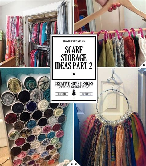 How To Organize Scarves In Your Closet by Creative Ways Of How To Store Scarves Closet Scarf