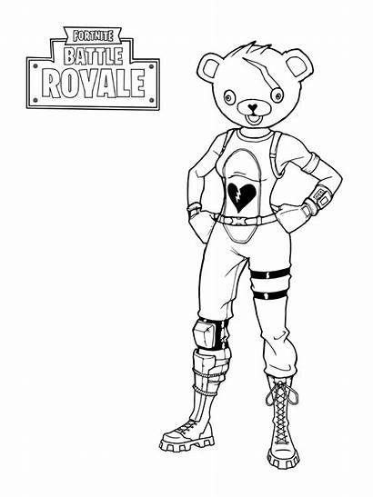 Fortnite Royale Battle Coloring Pages Team Leader