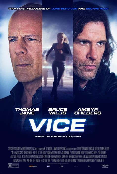 poster  vice starring bruce willis