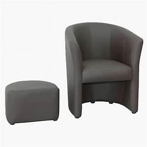 Fauteuil Cabriolet Gris : fauteuil cabriolet avec pouf int gr terre meuble ~ Teatrodelosmanantiales.com Idées de Décoration